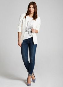 Mint Velvet Cream Easy Boyfriend Blazer