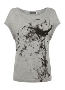 Mint Velvet Smoke Easy Tee