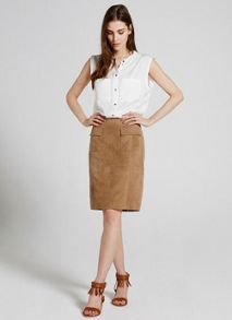 Mint Velvet Ivory Sleeveless Pocket Shirt