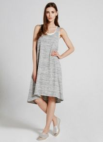 Mint Velvet Grey Marl Layered Jersey Dress