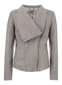 Mint Velvet Dove Leather Biker Jacket