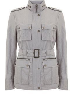 Dove Belted Military Jacket