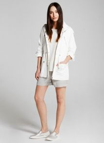 Mint Velvet Ivory Patch Pocket Parka