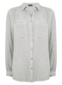 Mint Velvet Sage Split Back Shirt
