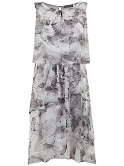 Nicolette Print Layered Dress