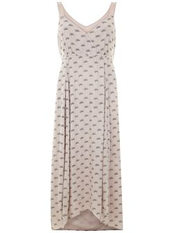 Luisa Print Tie Back Maxi Dress