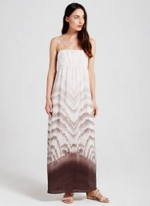Mint Velvet Evelyn Print Drape Front Maxi Dress