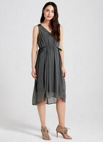 Mint Velvet Khaki Utility Dress