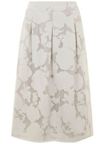 Mint Velvet Ivory Floral Burnout Skirt
