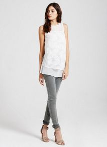 Mint Velvet Ivory Fern Burnout Tunic