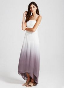 Mint Velvet Ivory & Smoke Ombre Maxi Dress