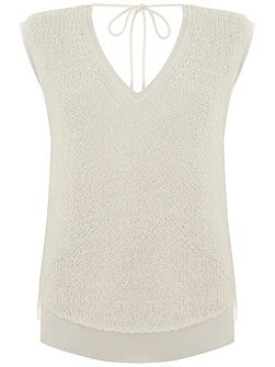 Ivory Sleeveless Shell Top