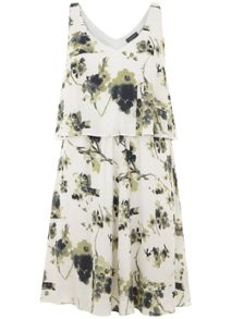 Mint Velvet Ellie Print Layered Trapeze Dress