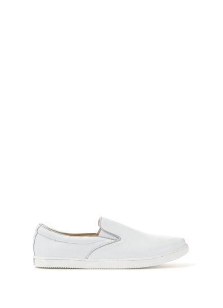 Mint Velvet White Alice Leather Plimsoll