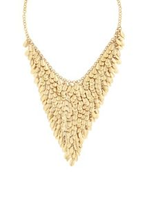 Gold Teardrop Statement Necklace