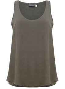 Mint Velvet Khaki Double Layer Racer Vest
