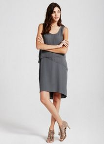 Mint Velvet Khaki Layered Dress