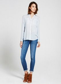 Mint Velvet Bluebell Split Back Shirt