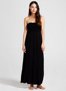 Mint Velvet Black Jersey Bandeau Maxi Dress