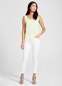 Mint Velvet Lime Raw Edge Vest