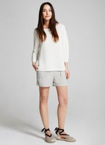 Mint Velvet Ivory Stripe Rib Knit