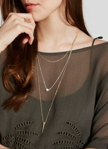Mint Velvet Silver & Gold Triple Layer Necklace