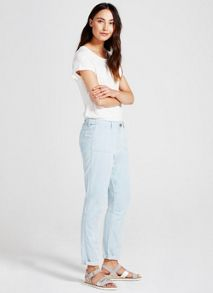 Mint Velvet Washed Blue Denim Trouser