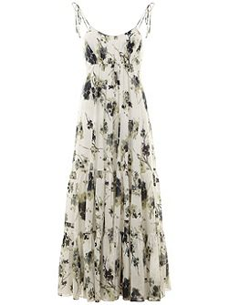Elle Print Trapeze Maxi Dress