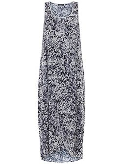 Essence Print Cocoon Maxi Dress