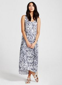 Mint Velvet Essence Print Cocoon Maxi Dress