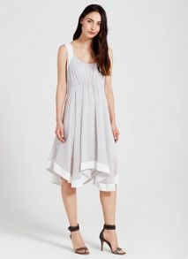 Mint Velvet Dove Blocked Asymmetric Dress