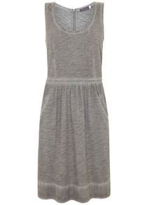 Mint Velvet Grey Overdyed Jersey Dress