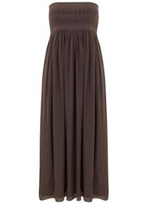 Mint Velvet Mocha Bandeau Maxi Dress