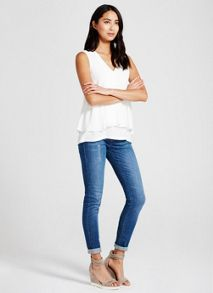 Mint Velvet Ivory Tuck Front Top