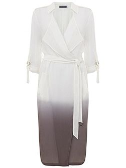 Dove Ombre Georgette Trench