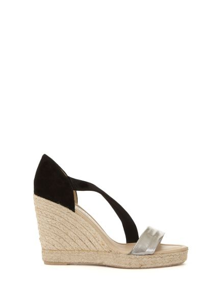 Mint Velvet Black Metallic Joanna Wedge