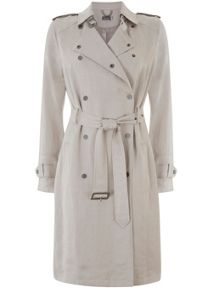 Mint Velvet Chalk Textured Trench