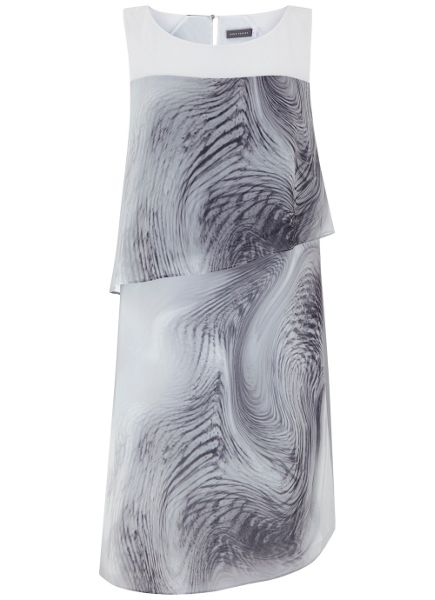 Mint Velvet Larissa Print Layered Dress
