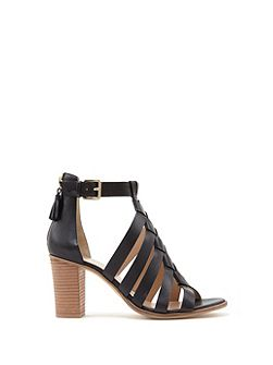Black Hope Cross Strap Sandal