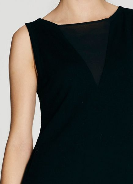 Mint Velvet Black Tie Front Tunic