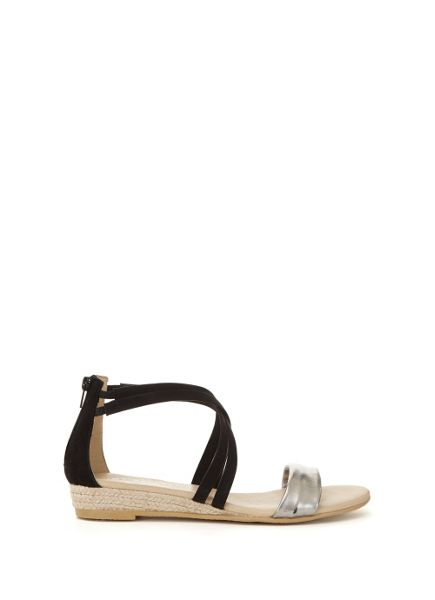 Mint Velvet Black Kim Suede Wedge Sandal