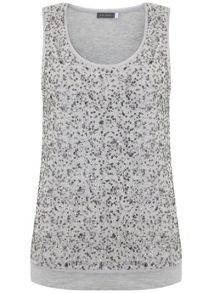 Mint Velvet Chalk Sequin Layer Vest