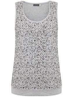 Chalk Sequin Layer Vest