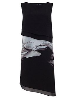 Erica Print Layered Dress