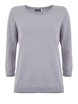 Lilac Lurex Trim Knit