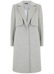 Mint Velvet Silver Grey Relaxed Coat
