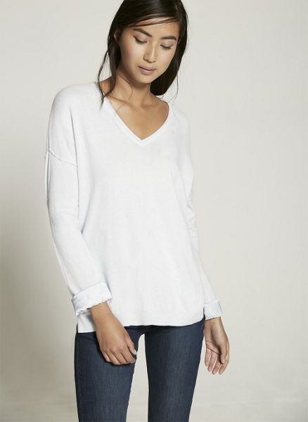 Mint Velvet Sky V-Neck Silk Detail Knit