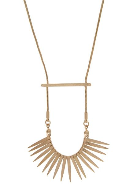 Mint Velvet Gold Bar & Spike Necklace