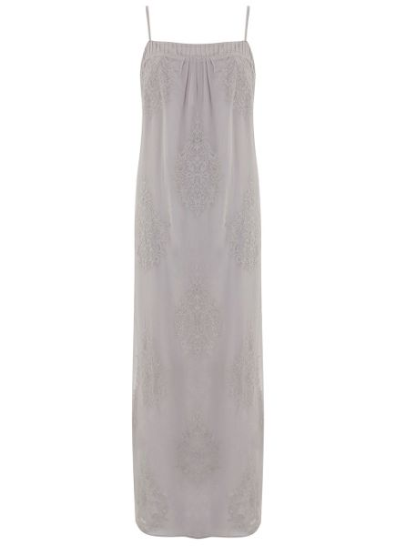 Mint Velvet Dove Embroidered Maxi Dress