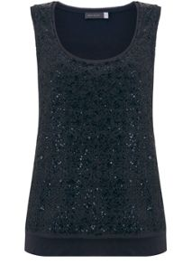 Mint Velvet Mercury Sequin Layer Vest